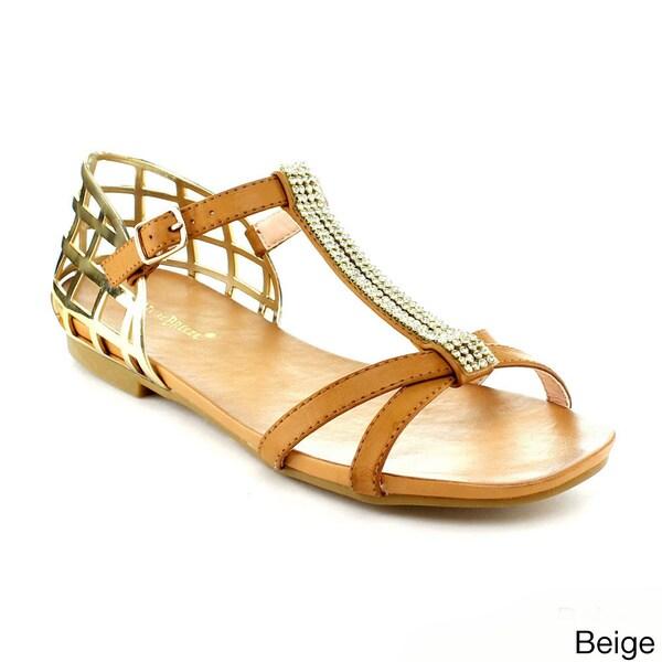 Nature Breeze Women's 'Seattle-01' Metallic Detail Gladiator Sandals
