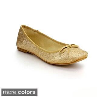 Mixx Shuz Women's 'Casey' Glittery Ballet Flats