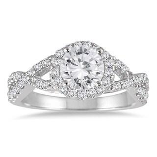 14k White Gold 1 1/2ct TDW Diamond Engagement Ring (I-J, I2-I3)