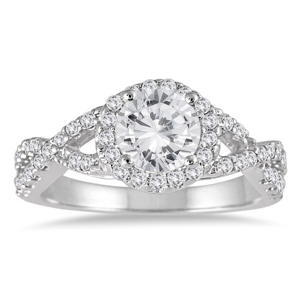 14k White Gold 1 1/2ct TDW Diamond Engagement Ring (I-J, I2-I3)