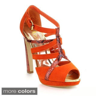 Mixx Shuz Women's 'Zim-03' Snake-embossed Heel