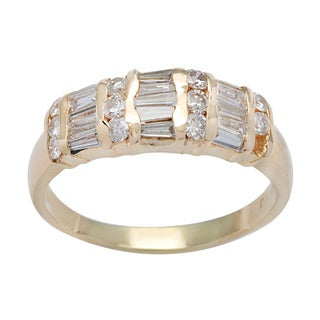 14k Yellow Gold 1ct TDW Dot-dash Diamond Ring (H-I, SI1-SI2)