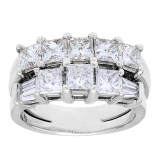 14k White Gold 2ct TDW Diamond Multi-band Estate Ring (H-I, SI1-SI2)