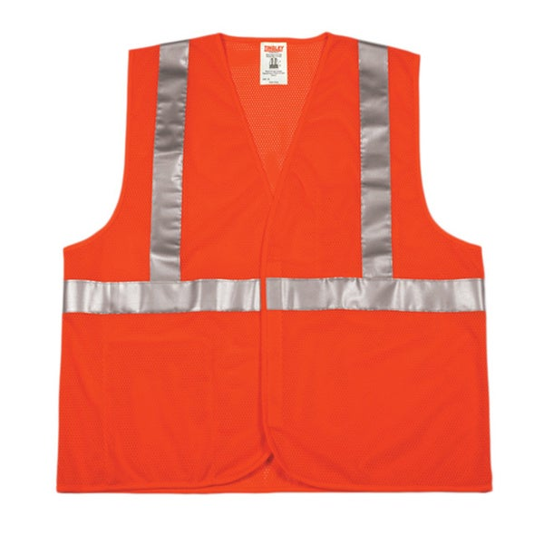 Class 2 Fluorescent Orange/ Red Vest