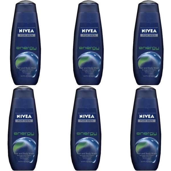 Nivea Men's Energy 16.9-ounce Hair and Body Wash (Pack of 6)
