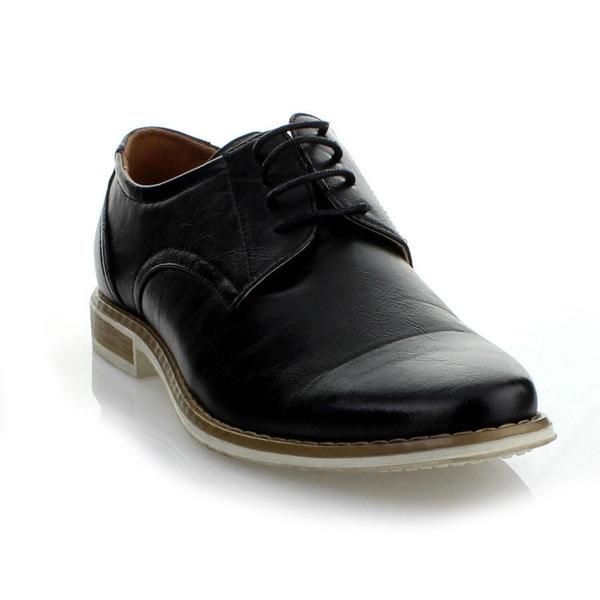 Mikoloti Men's Black Classic Lace-up Oxford Shoes