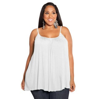 Sealed With a Kiss Women's White Plus-size Pretty Jersey Camisole