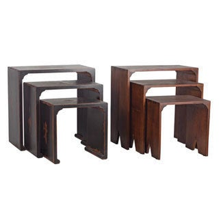 Distressed 3-piece Nesting Tables