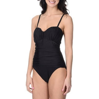 Alicia Simone Women's Solid One-piece Swimsuit