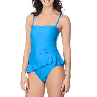 Alicia Simone Women's Ruffle-skirt One-piece Swimsuit