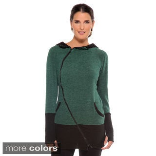 Anatomie Women's 'Shelley' Hooded Asymmetrical Zip Sweater