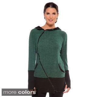 Anatomie Women's 'Shelley' Hooded Asymmetrical Zip Sweater