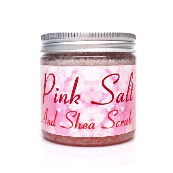 Pink Himalayan Salt and Shea 5 or 10-ounce Scrub
