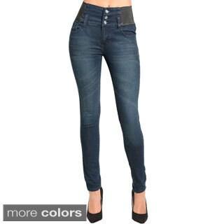 Stanzino Women's High-waist Banded Skinny Jeans