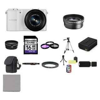 Samsung NX2000 Mirrorless Digital Camera with 20-50mm ED II f/3.5-5.6 Lens 16GB Bundle
