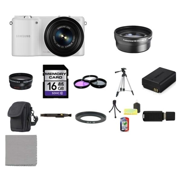 Samsung NX2000 Mirrorless Digital Camera with 20-50mm ED II f/3.5-5.6 Lens 16GB Bundle