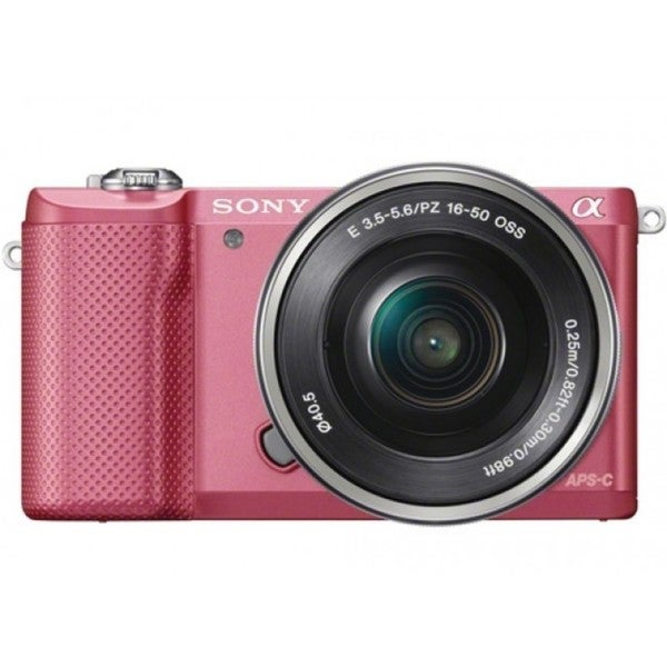 Sony Alpha A5000 Mirrorless Pink Digital Camera Body with 16-50mm f/3.5-5.6 OSS Lens