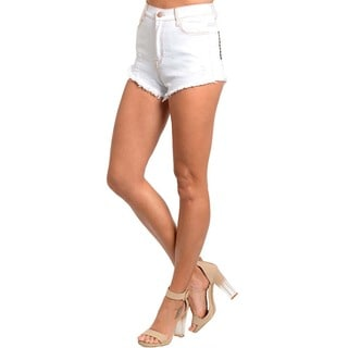 Feellib Women's High Waisted Denim Shorts