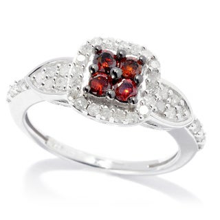 Sterling Silver 4/5ct TDW Red and White Diamond Ring (H-I, I2-I3)