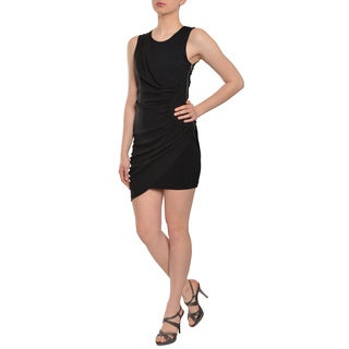 BCBG Max Azria Classic Black Ruched Cocktail Dress
