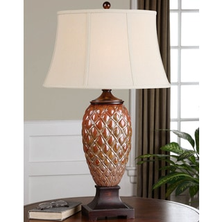 Uttermost Pianello Ceramic Polyresin Metal and Fabric Table Lamp