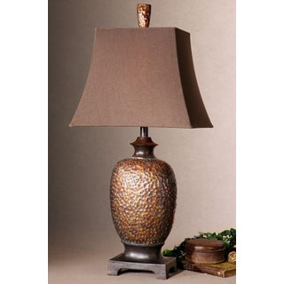Uttermost Amarion Lightly Distressed Bronzetone Table Lamp