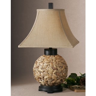 Uttermost Calameae Rattan Resin Fabric Table Lamp