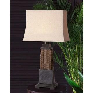 Lavaca Slate Resin Fabric Table Lamp