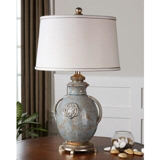 Cancello Light Blue Ceramic Vase Table Lamp
