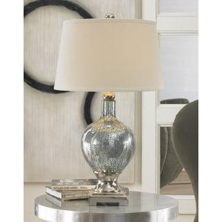 Uttermost Mafalda Mercury Blue Glass Table Lamp