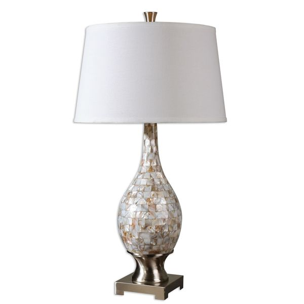 madre mother of pearl moasic table lamp overstock shopping. Black Bedroom Furniture Sets. Home Design Ideas