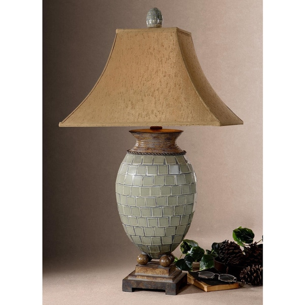 Uttermost Kayson Laurel Green Tiled Table Lamp