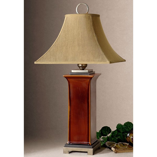 Uttermost Solano Burnt Russet Table Lamp