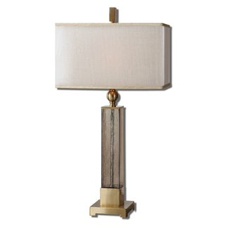 Uttermost Caecilia 33-inch Metal Fabric Glass Table Lamp