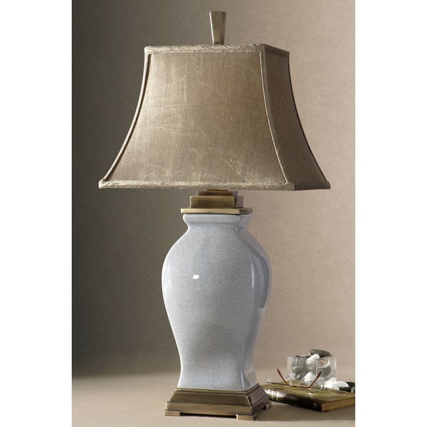 Uttermost Rory Sky Blue Porcelain Table Lamp