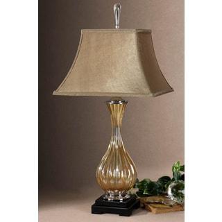 Tisbury Fluted Golden Glass Table Lamp