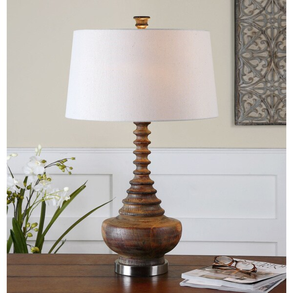 Uttermost Diega Ribbed Wood Table Lamp 13039933
