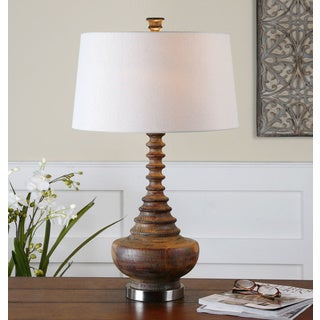 Uttermost Diega Ribbed Wood Table Lamp