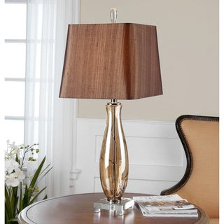 Gattis Glass Warm Amber Table Lamp