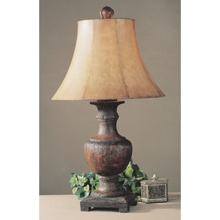 Woodman Weathered Wood Resin/ Metal Table Lamp