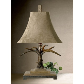 Uttermost Stag Horn Brown Resin Table Lamp