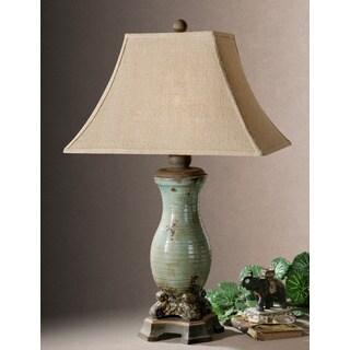 Uttermost Andelle Light Blue Ceramic/ Metal Table Lamp
