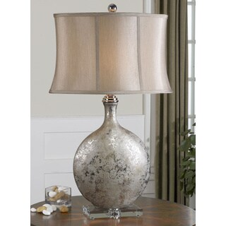 Uttermost Navelli Metallic Silver Ceramic/ Crystal Table Lamp