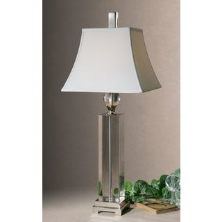 Uttermost Sapinero Polished Nickel Metal/ Crystal Table Lamp