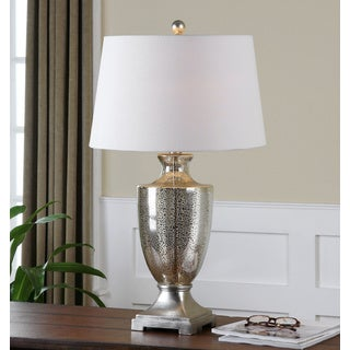 Antonius Antiqued Mercury Glass Lamp