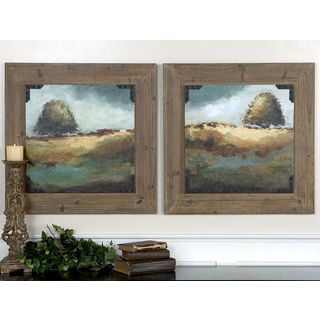 Christina Long 'Trees Of Love I, II' 2-piece Framed Canvas Art Set