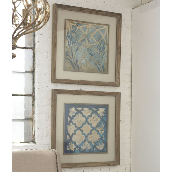 Uttermost Meagher 'Stained Glass Indigo' 2-piece Framed Canvas Art Set - Stained Glass/Indigo 13040027