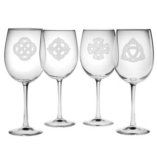 Celtic Knots 19-ounce Wine Glass (Set of 4)