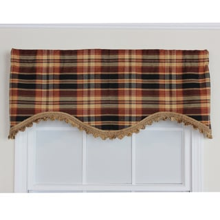 Stetson Plaid Onyx Cornice Window Valance