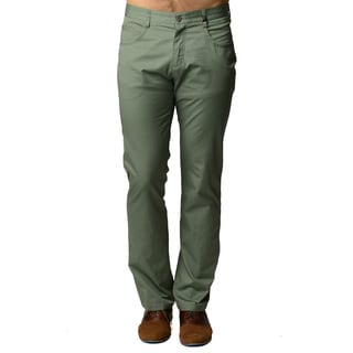 Men's Green Casual Slim-fit Pants
